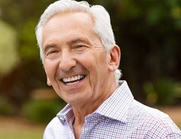 older man smiling