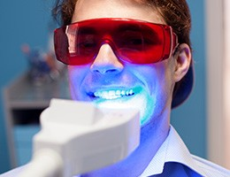 Patient receiving Zoom! teeth whitening