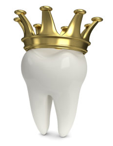 tooth standing with crown on top